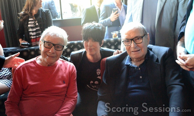 Lalo Schifrin with Oscar nominees Diane Warren and Ennio Morricone